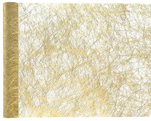 Tischläufer Gold aus Fanon - Tischband - edle Tischdekoration für Ihre Hochzeit
