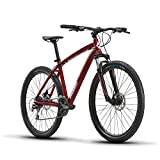 Diamondback Bicycles Overdrive Hardtail Mountain Bike with 27.5' Wheels, 18'/Medium, Red
