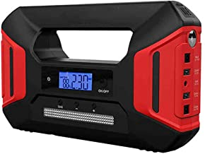 XLKO 12V Car Jump Starter Battery Up to 6.0L Gas or 3.0L Diesel Engine 600A Peak 20000mAh with Air Compressor and high Power LED Screen Light