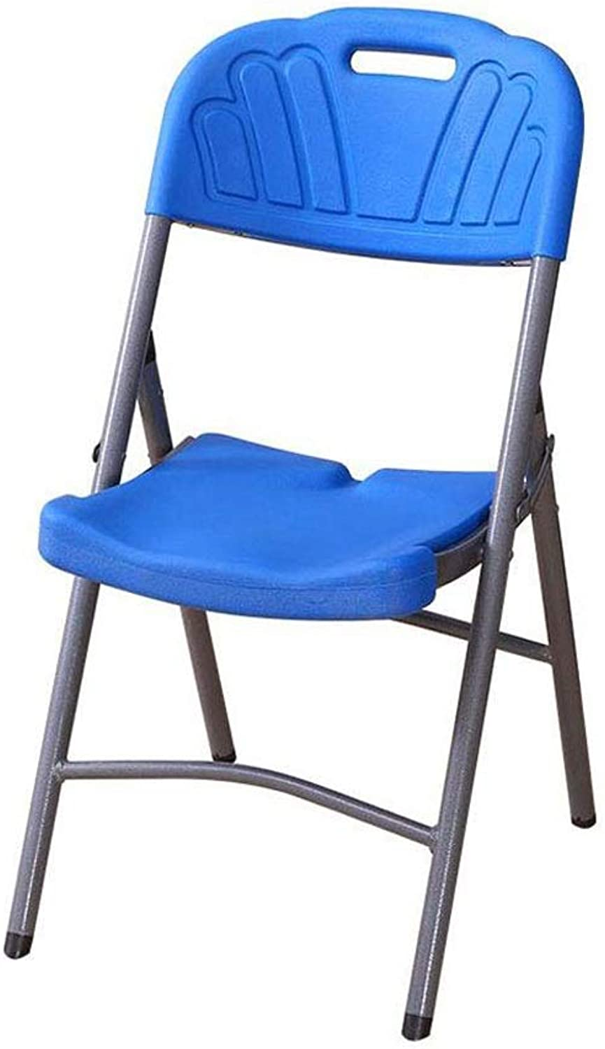 Folding Chair bluee Computer Chair Home Dining Chair Office Plastic Reception Chair Modern Seat