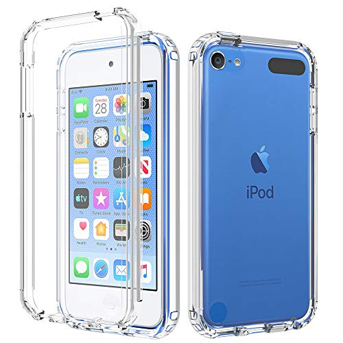 iPod Touch 7 Case iPod Touch 6 5 Case BESINPO Crystal Clear FullBody Protective Cover Builtin Screen Protector Shockproof Dustproof Case for iPod Touch 7th/6th/5th Generation  Clear