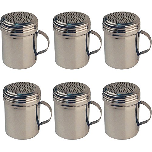 Winware Stainless Steel Dredges 10-Ounce with Handle, Set of 6
