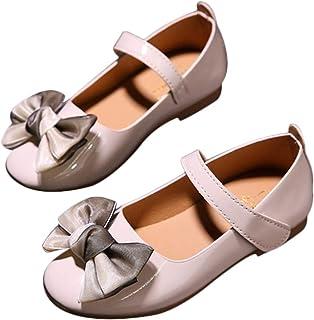 DEBAIJIA Fille Princesse Chaussures 2-9 Ans Mode Enfants Classique Belle Fleur Tendance Printemps Automne Fond Doux en Cui...