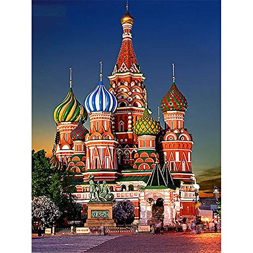5D DIY Diamond Painting Kits for Beginner, Beautiful Castle 60x90cm Diamond Art Full Drill Gem Picture Jewel Crystal Rhinestone Embroidery Home Decoration Gift