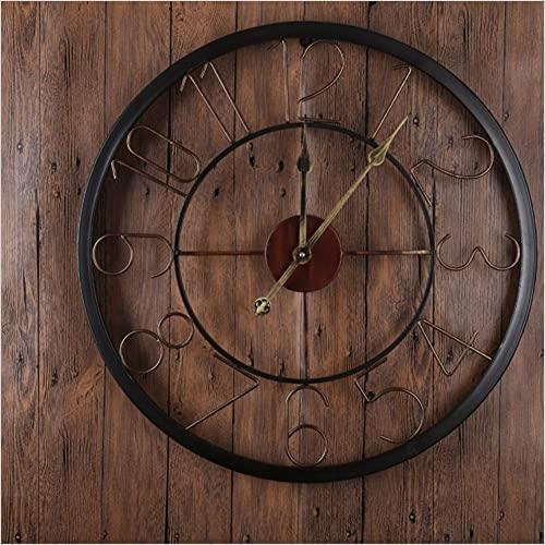 60 Cm Large Metal Wall Clock Retro Style Home Hotel Bar Office Decor Gift Idea Arabic Numerals