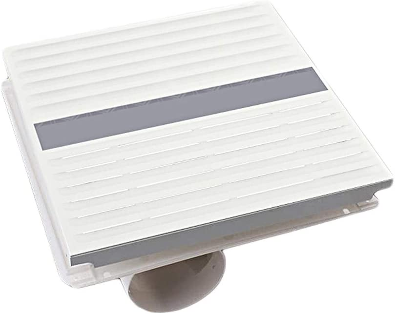 QIQIDEDIAN Extractor Ventilador Ventilador Cocina Baño Aluminio Escudo Mudo Ultra-Delgado