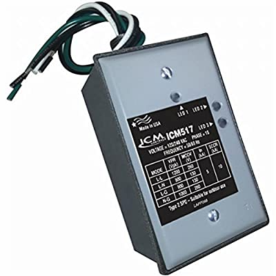 """ICM Controls ICM517 Single Phase Surge Protector with Nema Type 3R Rated Enclosure, 2.16"""" Depth, 2.78"""" Width, 5"""" Length"""