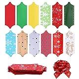 LXHANSPF-lead 12 unids/Set Navidad Arco Campana Colgante Mini Arcos Guirnalda decoración Boda Fiesta DIY Manualidades Suministros