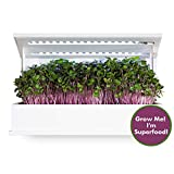 Grow Book, Countertop Herb Garden, Complete Indoor Garden Including Organic Non GMO Seeds, Potting Soil & LED Grow Lights. Microgreens Vegetable Garden