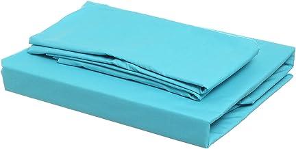 Al Maamoun Set Of Plain Bed Sheet, 1 Pillow, 1 Small Pillow - Turquoise