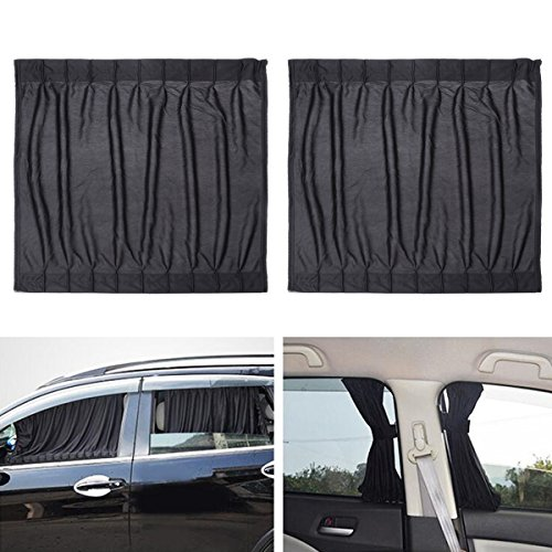 WINOMO 2pcs Car Side Window UV Protection Curtain Sun Shade Vehicle Slidable Window Shield for Sedan...