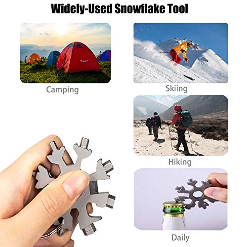Snowflake Multi Tool 18 in 1 for Daily and Camping (Silver)