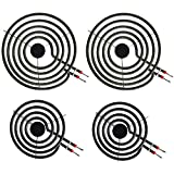 LXun MP22YA Electric Range Burner Element Unit Set, 4 Pack Included 2 x MP15YA 6' and 2 x MP21YA 8' Replacement for Kenmore, Hardwick, Whirlpool, Maytag, Jenn Air, Norge Ranges/Stoves