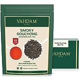 Tè nero in foglie Smoky (50 tazze) - Tè nero originale indiano - Tè dall punte dorate, dall'aroma affumicato e sentori di malto, confezionato in India, 100g