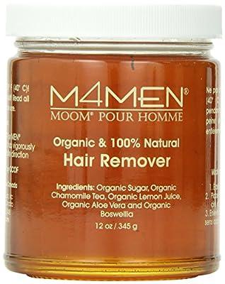 M4Men, Moom For Men, 100% Organic Hair Removal 12oz/345g Refill Jar