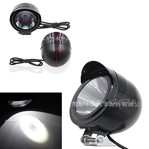 PolarLander Universel Moto Bateau de Camion ATV Durable 2PCS 220LM 5W LED Blanc Brillant Spot Phare