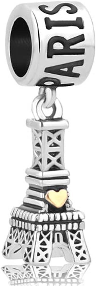 LovelyCharms Travel Landmark Series Charm Dangle Beads for European Bracelets