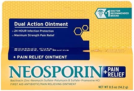 Neosporin Pain Relief Ointment 0 50 oz Pack of 4 product image
