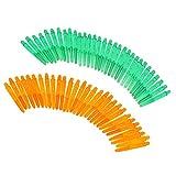 perfeclan 60 Piezas 35 Mm 2BA Rosca Plástico Re-ranurado Ejes De Vástagos Verde Y