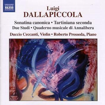 Dallapiccola: Sonatina Canonica - Tartiniana Seconda