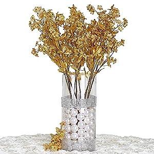 Silk Flower Arrangements BalsaCircle 32 Gold Silk Baby Breath Artificial Flowers - 12 Bushes - Wedding Party Centerpieces Arrangements Bouquets Supplies