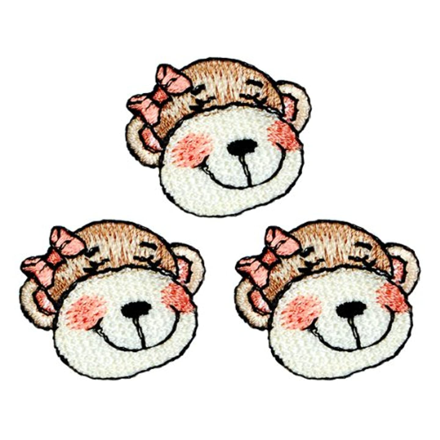 Expo Iron-on Embroidered Applique Patches, BaZooples Molly Monkey Head, 3-Pack
