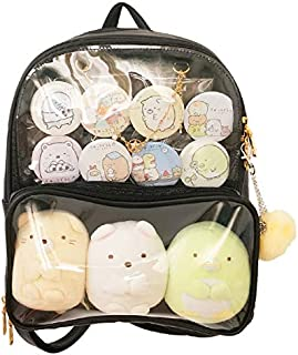 Patty Both Clear Backpack Transparent Ita Bag for Anime Lolita Bag DIY Cosplay(Ita Bag, Black)