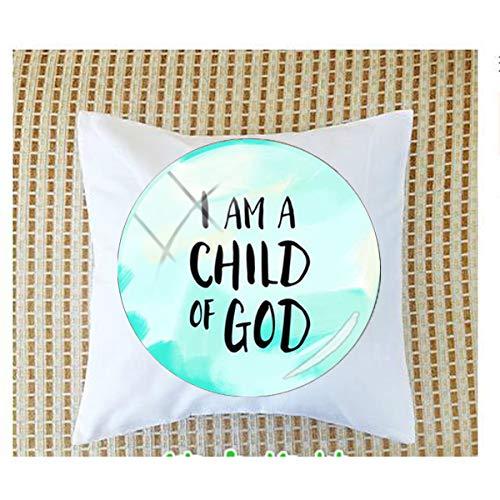 bab Inspirational Language I Am a Child of God Magnet 6 fundas de almohada