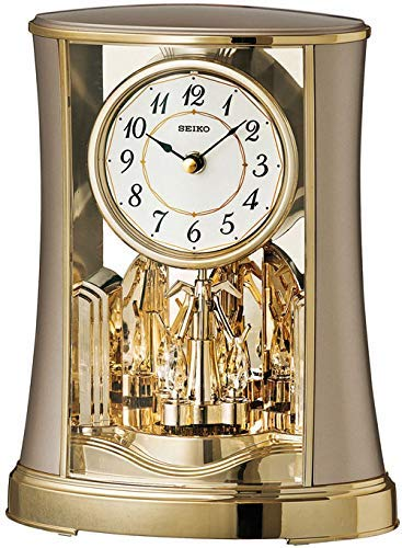 Seiko Tischuhr Motion gold Kunststoff Drehpendel QXN227G