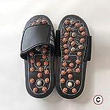 XIHUANNI Sandalias de acupresión y reflexología, masajeador de pies, sandalias de masaje de estimulación acupoint para hombres y mujeres
