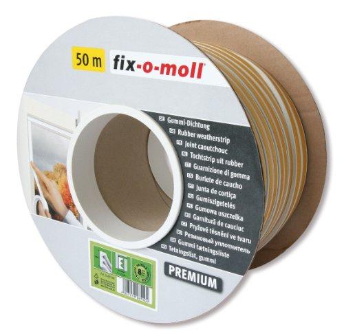 fix-o-moll E-Profildichtung Bobin 50 m 4 x 9 mm selbstklebend weiß, 3585240