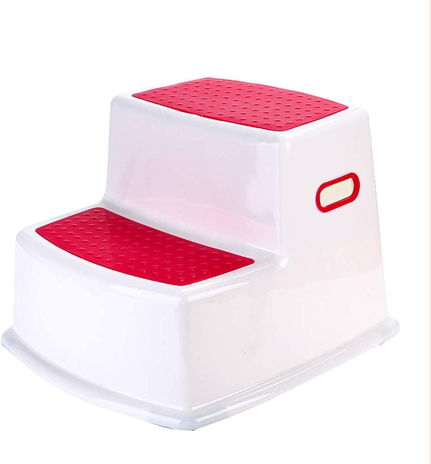 2 Steps Foot Stool for Baby Kids Toddler Training Plastic Small Seat Non Slip Bathroom Living Room Ascend High Use (color   Red)