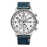 hawker av-4011-fr02 - orologio da uomo hurricane, edizione limitata esclusiva francese, cinturino in vera pelle, cofanetto con due cinturini aggiuntivi