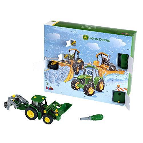 Theo Klein 3936 Adventskalender mit John Deere Traktor 6215R, Maßstab 1, 24 Türchen, Mehrfarbig