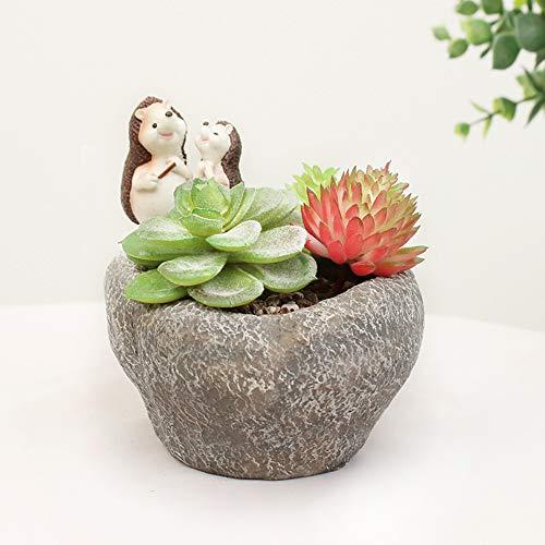 JKXWX Leuke Diervorm Bloempot, hars bloempot, Cartoon Home Decoratie Succulente Planter Bloempotten