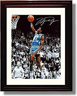 Framed Michael Jordan - North Carolina Tar Heels Spotlight Autograph Replica Print