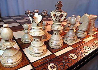 Chessebook Juego de ajedrez de Madera 52 x 52 cm