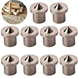 CESFONJER 10 pcs perno centro di allineamento lavorazione del legno punte strumento centro di marcatura trapano, 5 mm centro di centraggio punte perno set di perni (Solid)