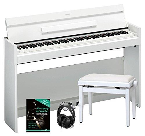 Yamaha Arius Ydp-S52 Wh Digitalpiano Set Inkl. Bank, Kopfhörer Und Notenheft (88 Tasten, Anschlagdynamik, Notenablage, Tastaturabdeckung, Inkl. Schule) Weiÿ
