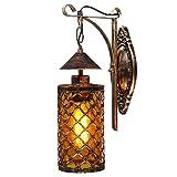 Lámpara de pared LED para interiores, vintage, aplique retro, aplique de pared E27 (bombilla no...
