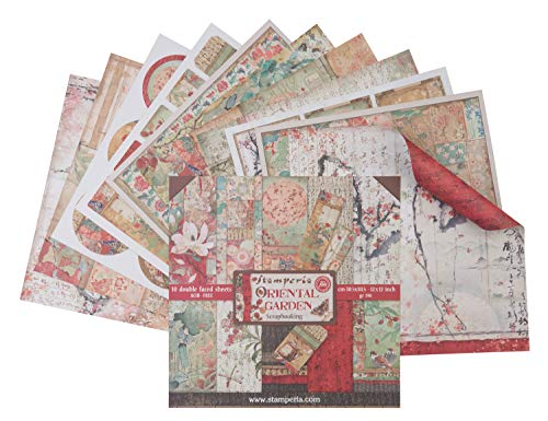 "Stamperia International KFT SBBL58 Hojas de papel - jardín oriental, Multicolor, 30.5 x 30.5 (12"""" x 12"""")"