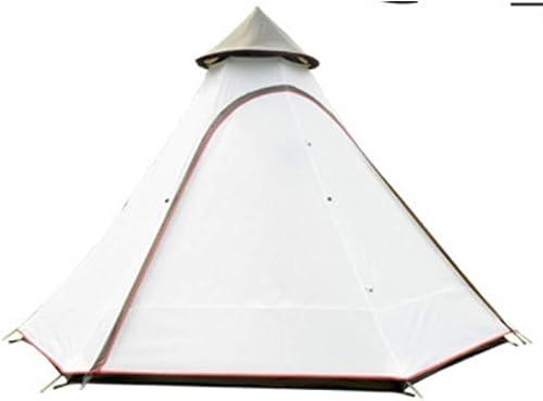 MDZH Tente Tipi Tent Uni 10Ft Double Porte étanche Teepee Camping De Luxe Mongolie Yourte Famille Tente Légère