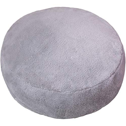 Plush Solid Colour Chair Cushion,Round Foam Seat Cushion Thickened Anti Skid Chair Pad Home Office Decoration Futon C Diameter 31'x9'(80x25cm)