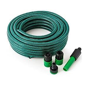 Garden hose EUROXANTY® Manguera 10M | Grosor de 12 mm | Kit de Lanza Ajustable y adaptadores fiabilidad | Material Resistente y Duradero