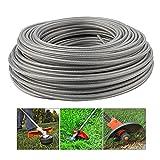 Ysislybin Hilo de corte de acero de 3 mm, alambre de acero, cuerda de corte de alambre, cuerda de cortacésped, hilo de repuesto para desbrozadora