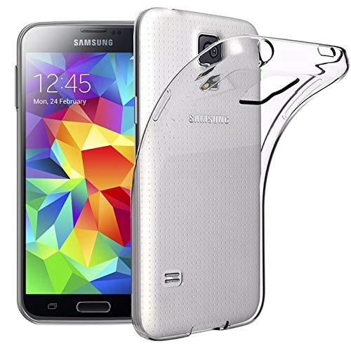 Verco Handyhülle für Samsung S5 Mini Hülle, Handy Cover für Samsung Galaxy S5 Mini Hülle Transparent Dünn Klar Silikon, durchsichtig