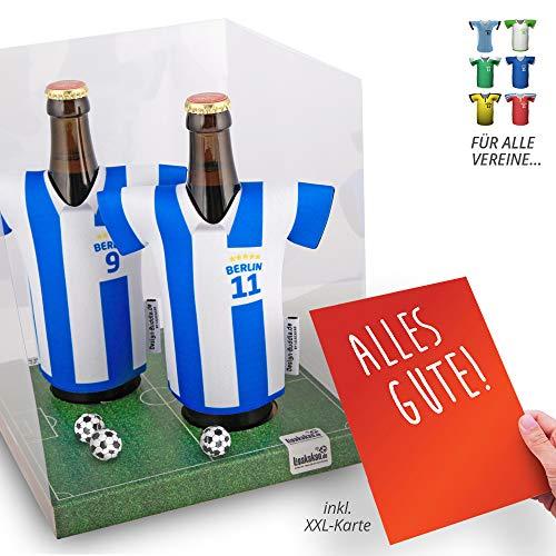 Der Trikotkühler | Das Männergeschenk für Hertha-Fans | Langlebige Geschenkidee Ehe-Mann Freund Vater Geburtstag | Bier-Flaschenkühler by Ligakakao