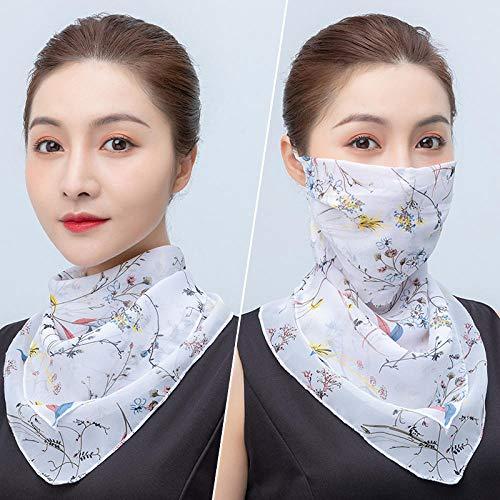 Bodyfi Resistente al Viento Antipolvo Pasamontañas de Damas Calentadores del Cuello de Mujer Bufanda Cuadradapara Verano Pueden Usar como Polainas para El Cuello, Pañuelos,
