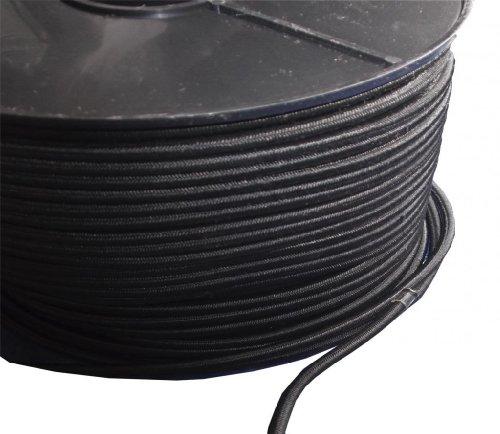 3mm x 20 METERS, BLACK STRONG ELASTIC BUNGEE ROPE SHOCK CORD TIE DOWN FREE POST