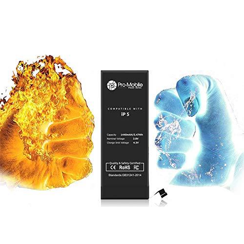 Pro-Mobile Power Ersatz Akku für Original Apple iPhone 5/5G 1440 mAh inkl.Klebestreifen und Reperaturwerkzeugset Batterie Battery iPhone 5 / 5G